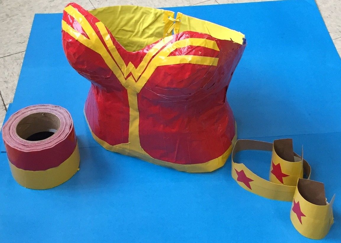 how to make a wonder women costume from duct tape duct