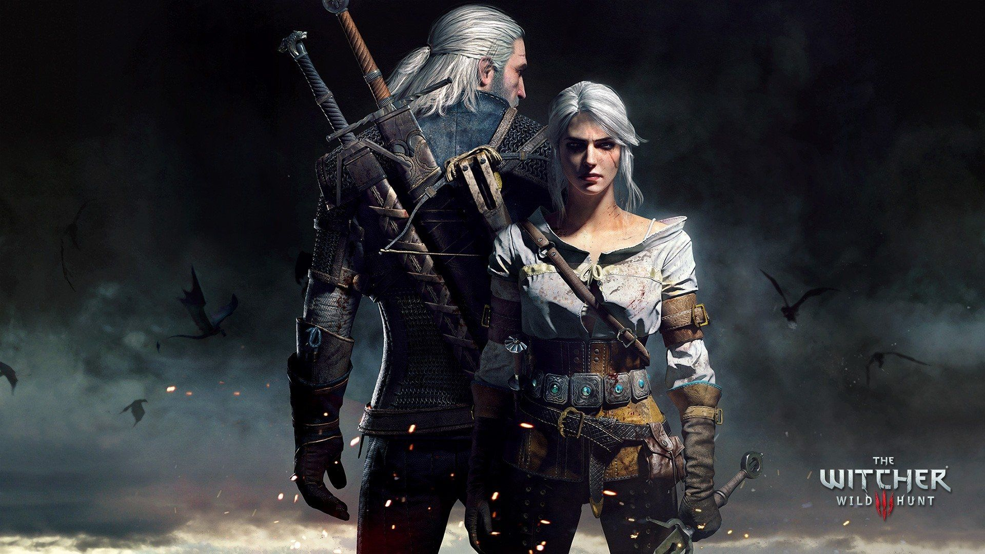Geralt And Ciri Video Game The Witcher 3 Wild Hunt The Witcher Geralt Of Rivia Ciri The Witcher Wallpaper The Witcher Wild Hunt Geralt And Ciri The Witcher