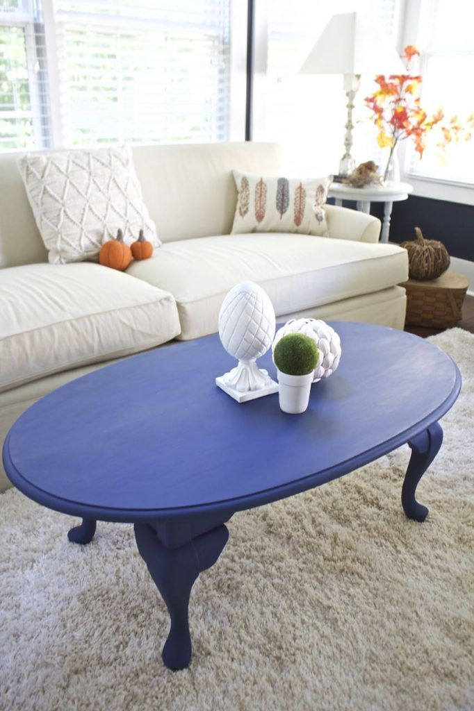 Coffee Table Makeover In Napoleonic Blue Chalk Paint Coffee