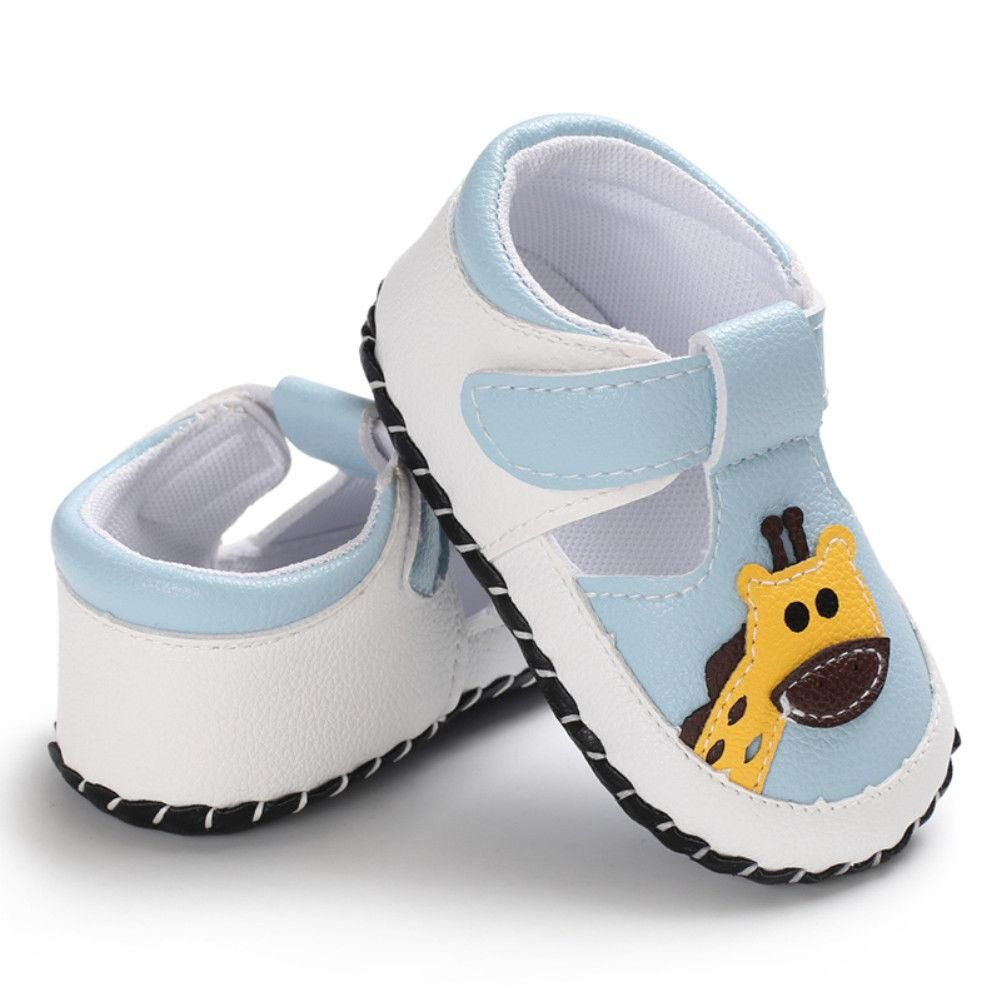 Cute Newborn Girl Boys Soft Sole Crib Shoes Toddler Sneakers Leather Shoes 0-18M