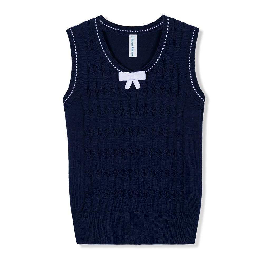 Girl's Sweater Vest School Vest V-Neck Uniforms Cotton Pullover with Bows  for Girls 3-12Y - Navy - CI18L2S748T | Girls sweaters, Cotton pullover, Sweater  vest