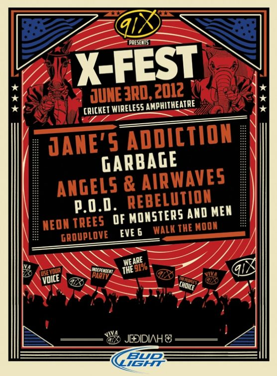 91x X Fest 2012 Go To The Jedidiah Booths Get A Shirt