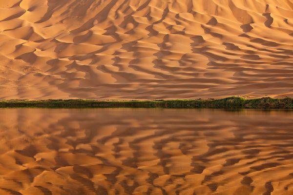 Alxa Desert Geopark in Mongolia's Gobi Desert.