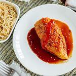 Pechugas de pollo marinadas con Sriracha y miel❤🎆❤