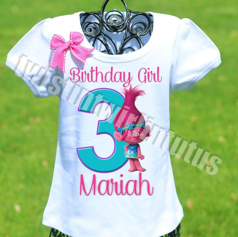 Trolls Birthday Shirt Family birthday shirts, Birthday
