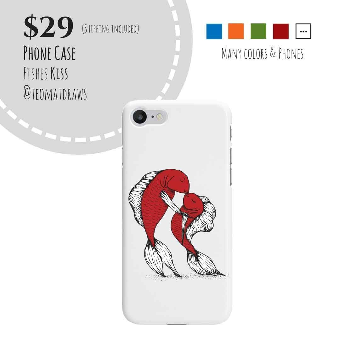Sealife Drawing The Fishes Kiss --- Phone Case . . . . You are in t