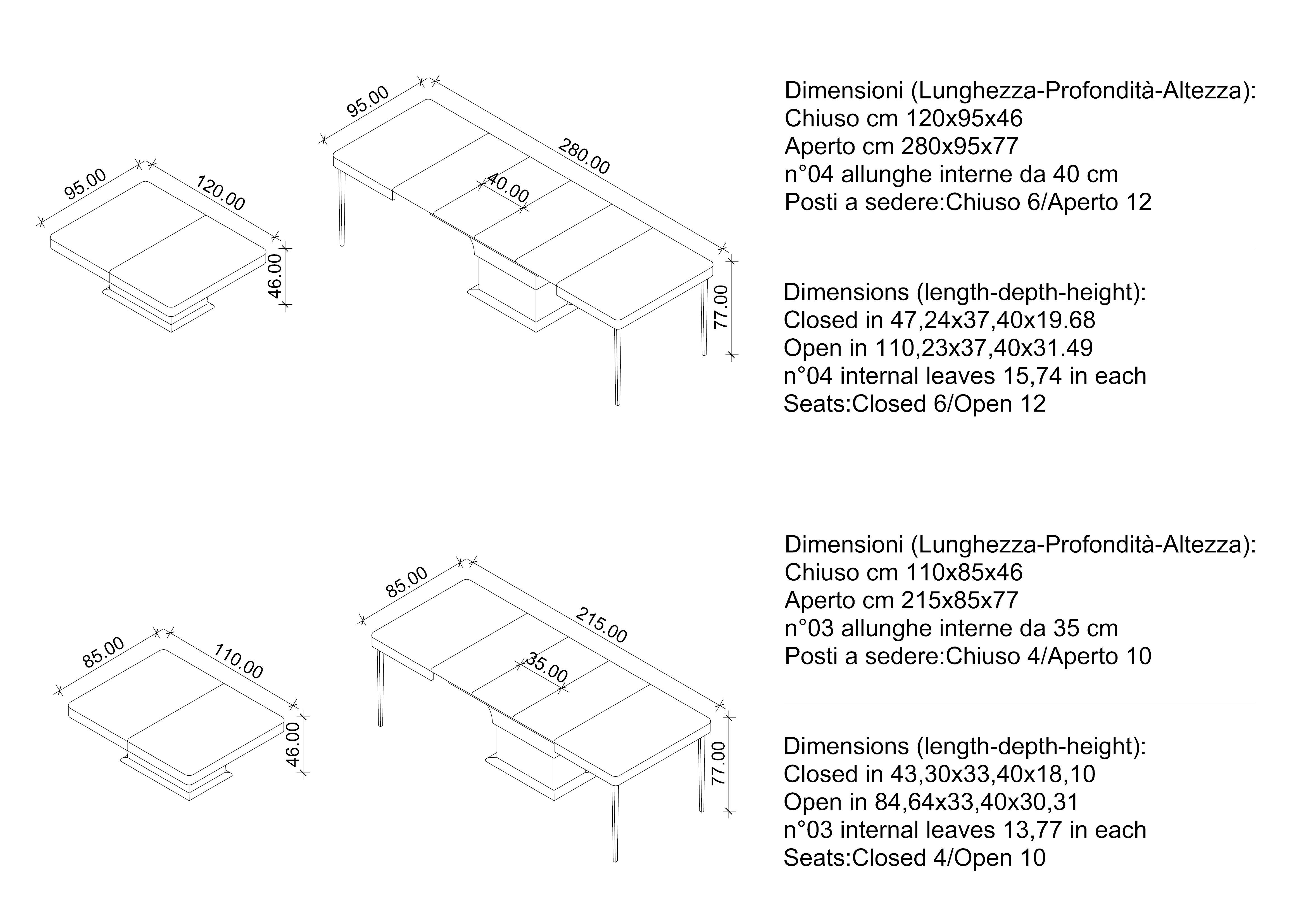 Le Fibre Del Legno teak | tavolo trasformabile, tavolo allungabile, tavoli da