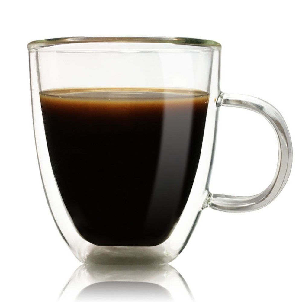 Daily Use Transparent Coffee Mugs Double Layer Sale Coffee Mugs Shop Buymorecoffee Com Double Wall Glass Glass Cup Glass Coffee Mugs