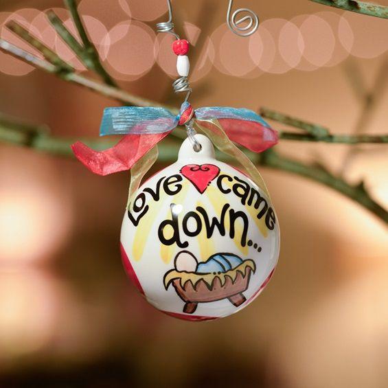 Love Came Down - Christmas Porcelain Ornament