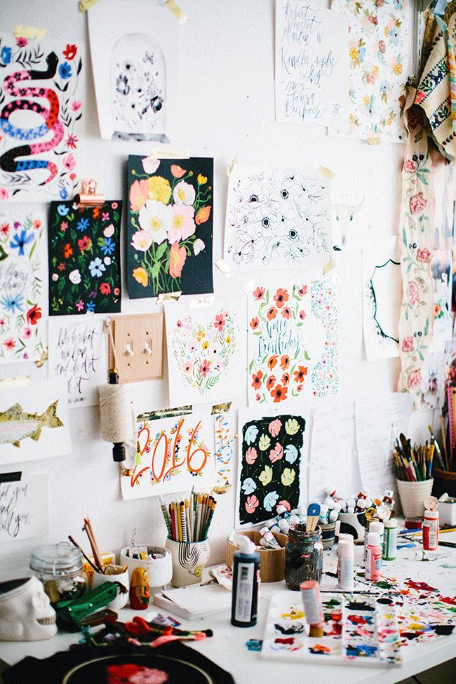 Dibujos de flores para decorar tus paredes de un modo divertido