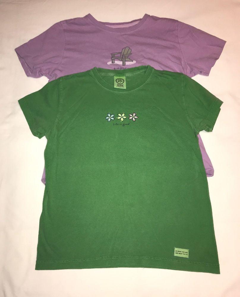 Womens Life Is Good Shirt Lot Size Small #fashion #clothing