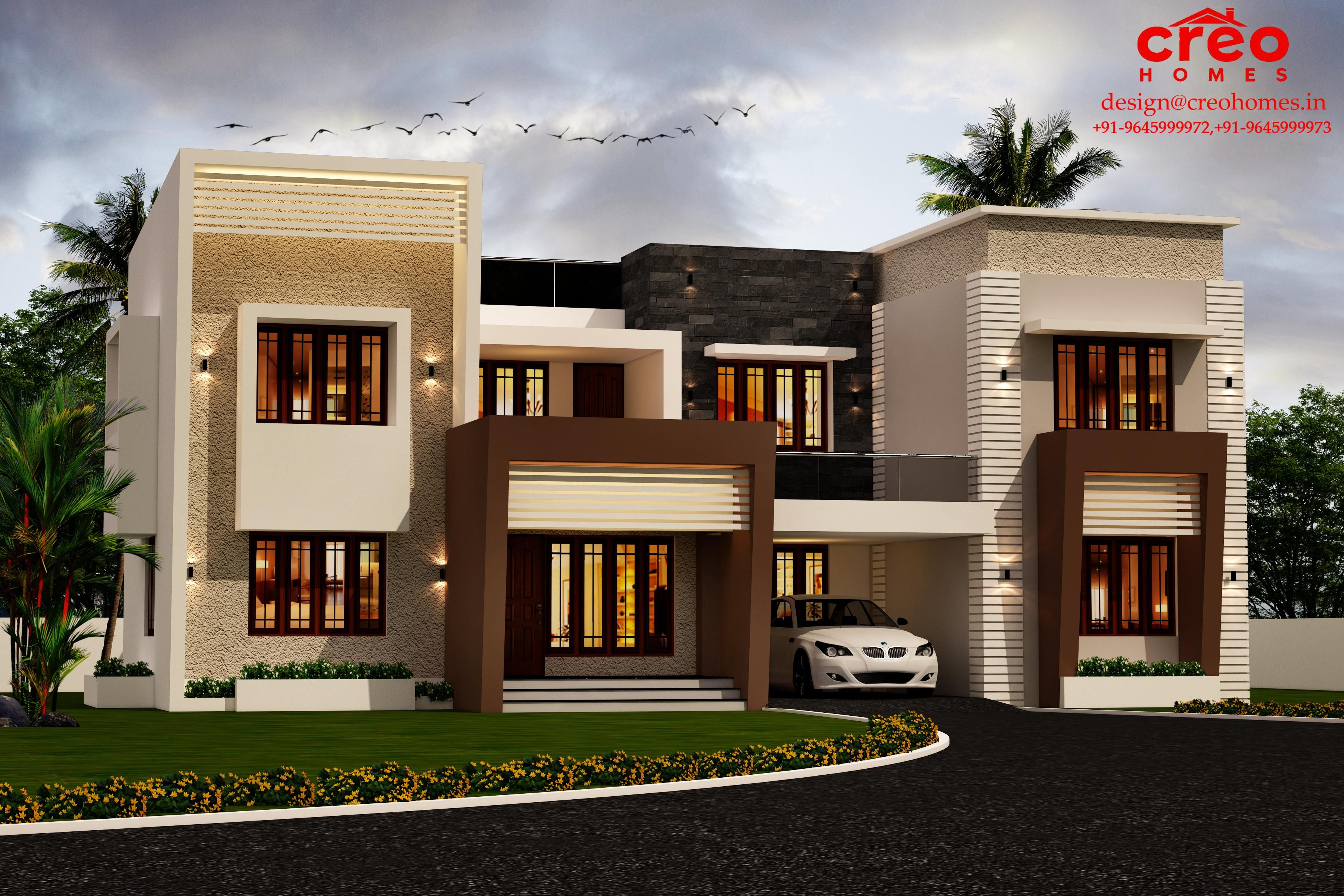 16 Awesome House Elevation Designs: Luxury Houses Front Elevation Design