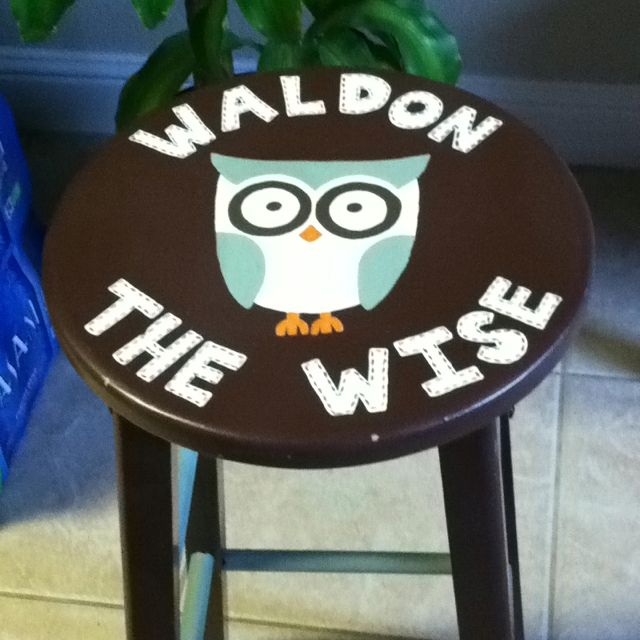 My Classroom Stool made over by my amazing sister!