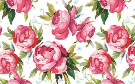 Pink Rose Pattern Wallpapers