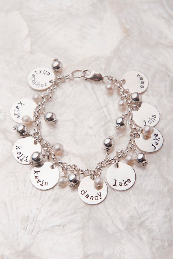 grandma gift idea Mothers bracelet with initials custom letter charms mothers day gift monogram bracelet Personalized Infinity Bracelet