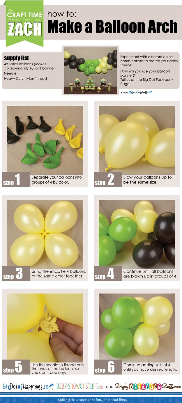 Wedding decorations to make  How to Make a Balloon Arch  DIY Party Decorations  Wedding