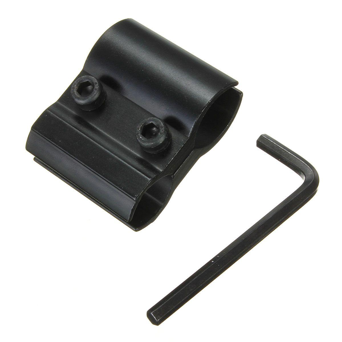 Black Tactical Barrel Ring Scope Clamp Mount Holder Flashlight Torch Laser Sight