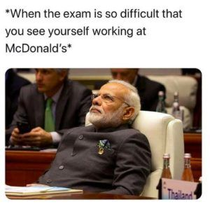 When The Exams Are Very Difficult