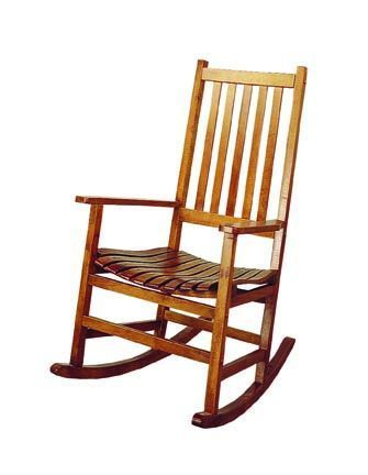 Coaster Furniture Warm Brown Wood Rocking Chair Rocking Chair