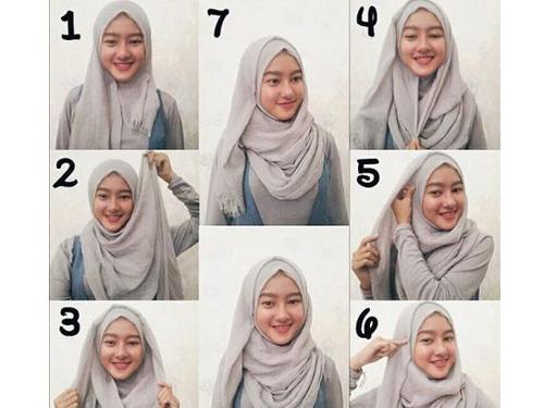 Tutorial Hijab Pashmina Untuk Wajah Bulat Yang Simple Inspirasi Fashion Hijab Tutorial Hijab Pashmina Gaya Hijab