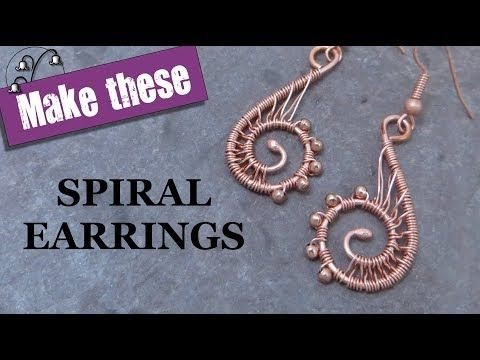 How to make spiral wire earrings   Wire Jewelry Tutorials   Pinterest