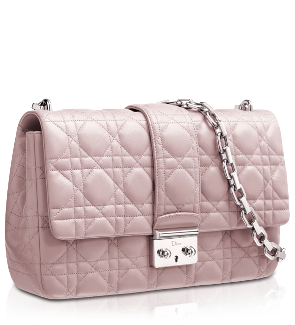 Dior Mink Grey Leather Miss Bag