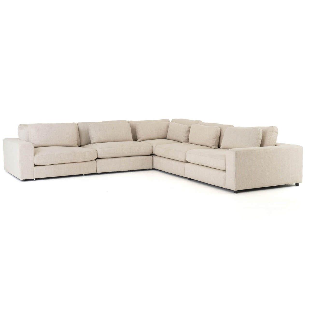 Bloor Contemporary Beige 5 Piece Corner Sectional Sofas 131 In 2020 Corner Sectional Sofa Sectional Sofa Corner Sectional