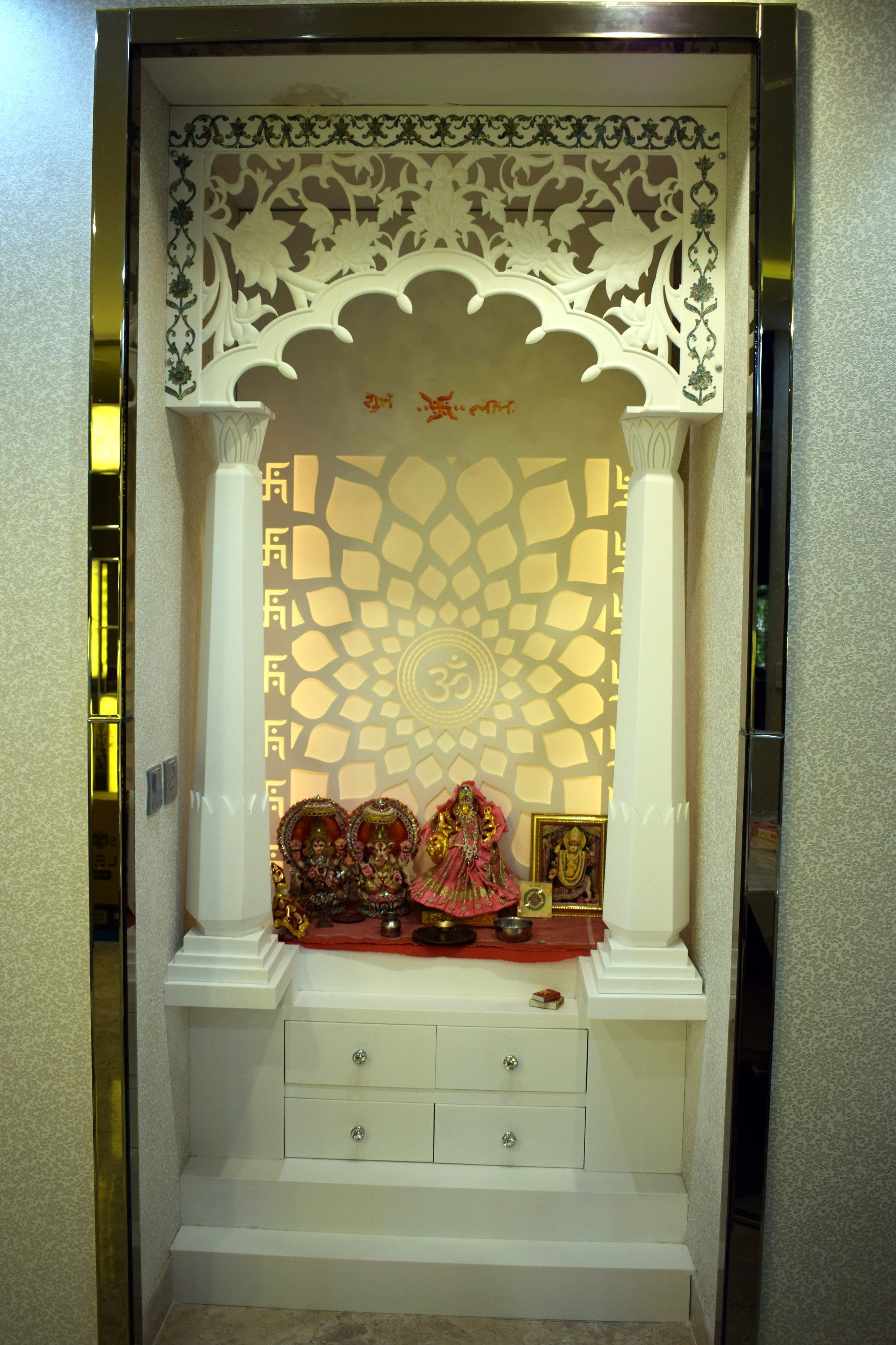 40 Door Design For Mandir Important Ideas: Latest Corian Mandir At Shopinterio.com We Have Our