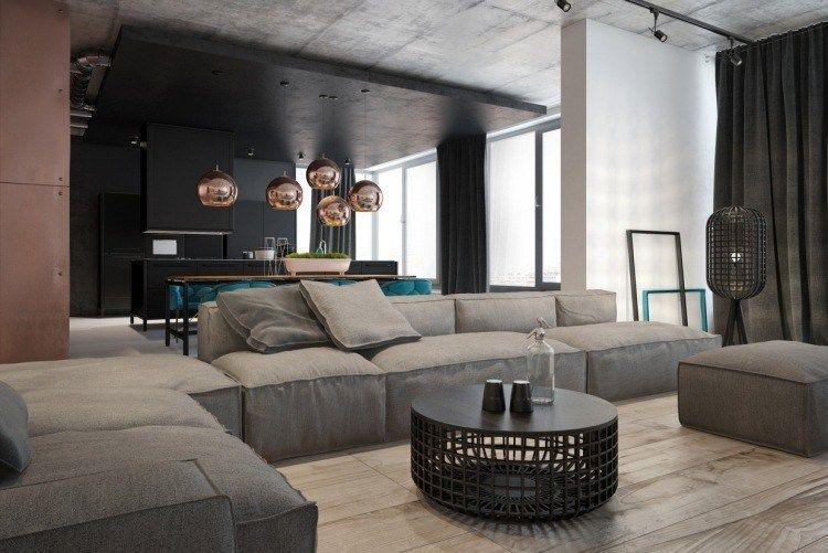 Deco Salon Gris Avec Canape Tout Confort 55 Idees Pour Vous