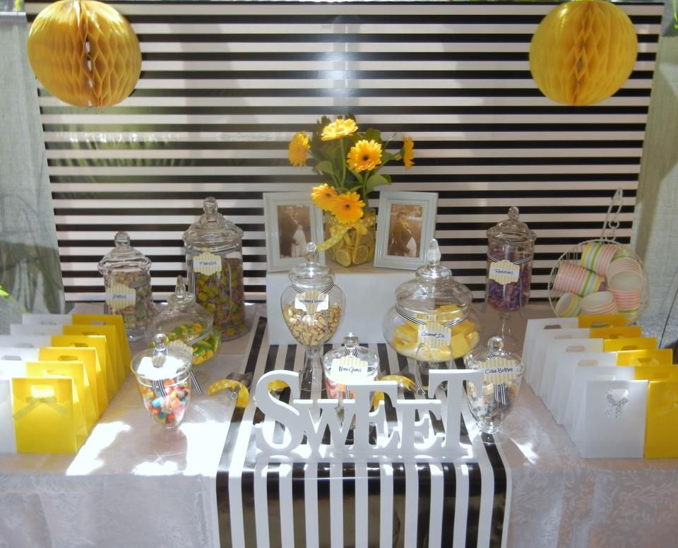 Yellow And Black Baby Shower Lolly Buffet Http