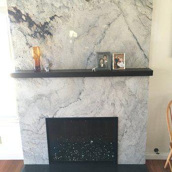 New River White Granite Fireplace Surround Yelp Granite