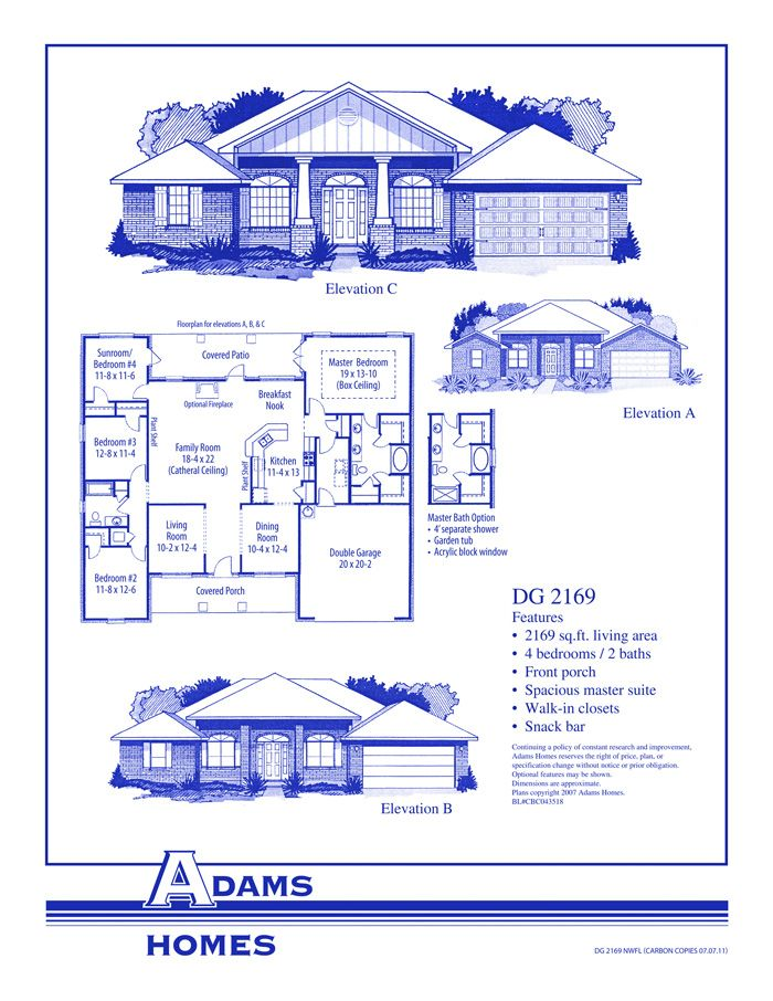 Southwoods Homes For Sale Luxury Custom Home Builders New Homes In Southwoods Pensacola Fl House Floor Plans Floor Plans Adams Homes