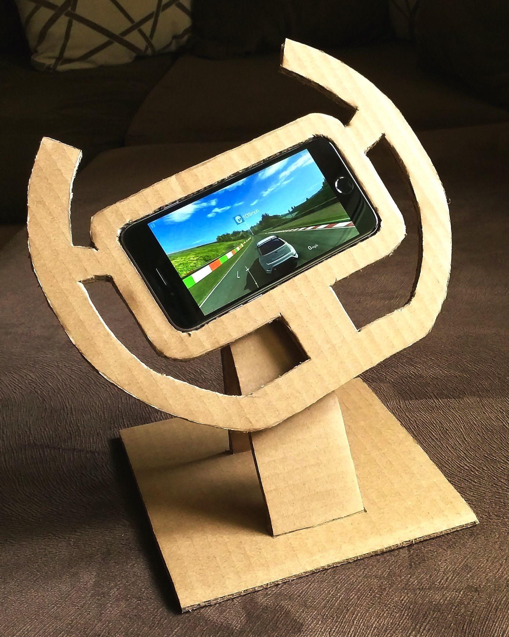 How to make cardboard gaming wheel diy handmade