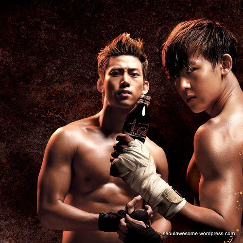 Kết quả hình ảnh cho Nichkhun và Taecyeon Boxing