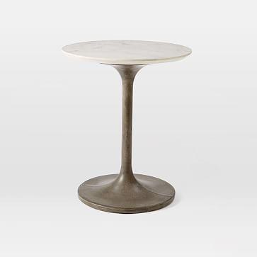 Concrete Pedestal Side Table Marble Top Westelm DESIGN - West elm pedestal side table