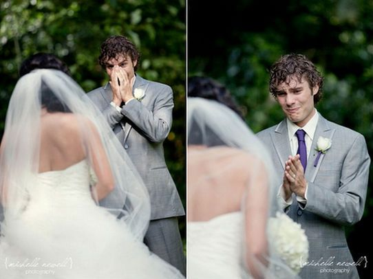 grooms reacting to brides on their wedding day - CLICK TO SEE MORE PHOTOS!