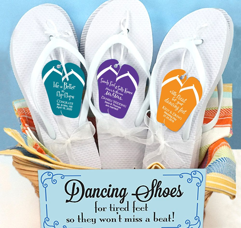 Wedding Flip Flops For Guests: Personalized Guest Flip Flops Will Keep Your Guests Feet