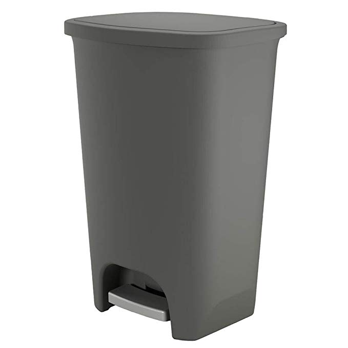 Amazon Com Glad Gld 74055 Extra Capacity Plastic Step Trash Can With Clorox Odor Protection Of The Lid Fits Kitchen Pr Trash Can Kitchen Fittings Trash Cans