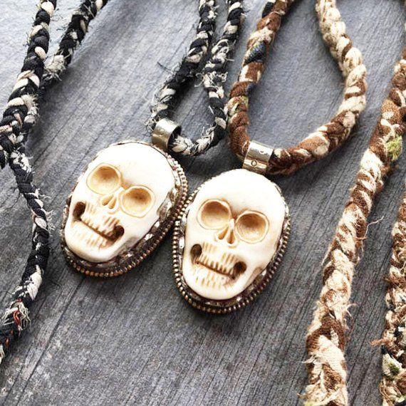 Skull Pendant Skull Necklace Carved Bone Skull Pendant Carved Bone Necklace Bone Necklace Skull Pendant Skull Necklace Pendants