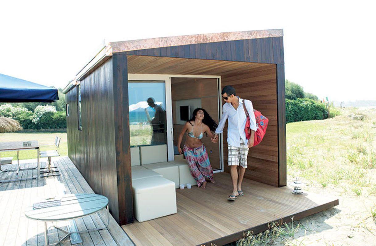 micro maison pr fabriqu e contemporaine cologique small hdd summer house by raphaelle. Black Bedroom Furniture Sets. Home Design Ideas