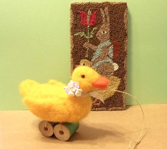 This Needle Felted Duck Is Ready For Spring and by WildWoodHollow