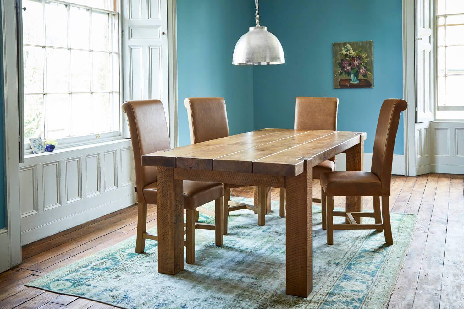 Indigo Furniture Flexible Finance Solid Wood Desk Indigo