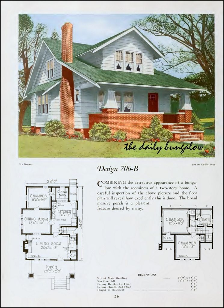 1920 National Plan Service Craftsman House Plans Craftsman Bungalow Exterior Craftsman House