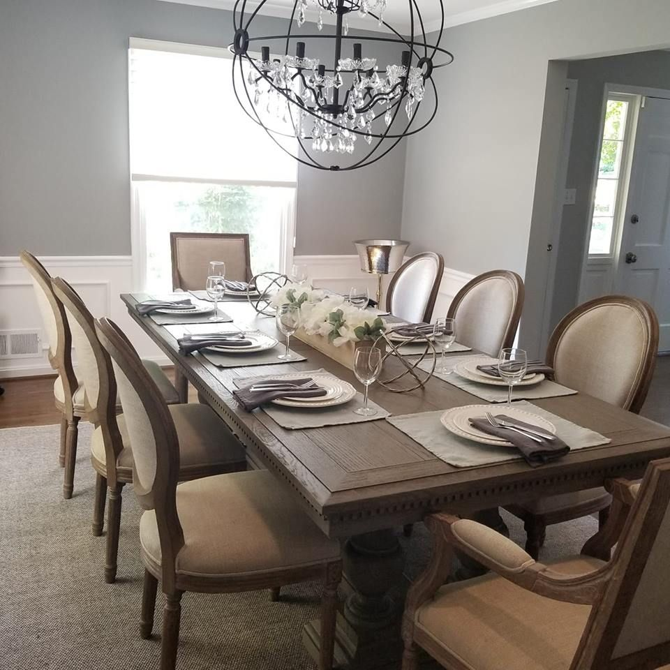 Dining Room St James Table From Restoration Hardware With Chairs