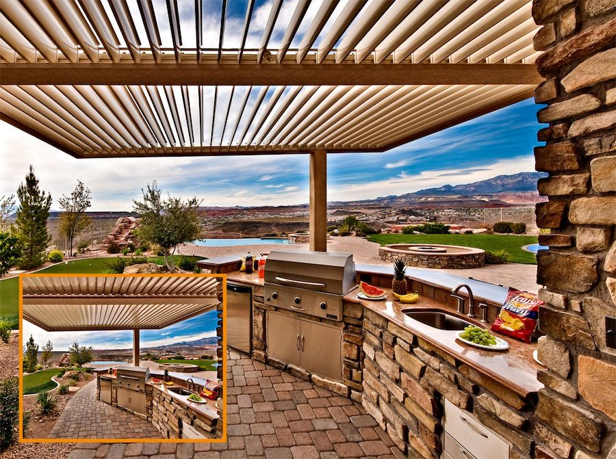 Equinox® Louvered Roof Is An Motorized Louvered Patio Cover That Can Open  Or Close At