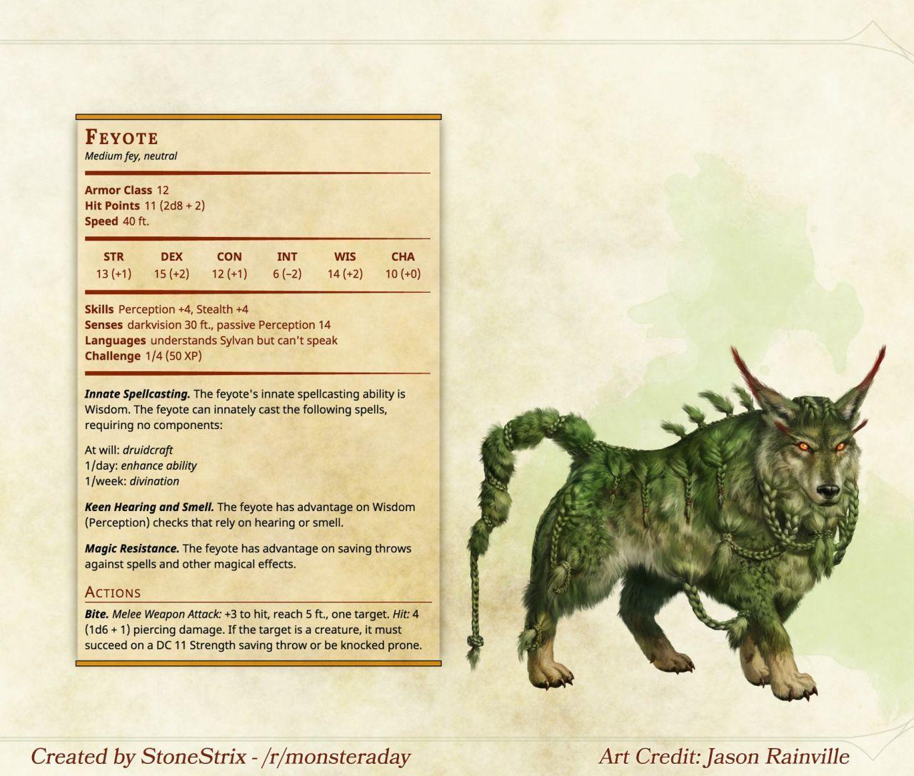DnD 5e Homebrew — Monsters by Stonestrix | Empress D&D party ideas