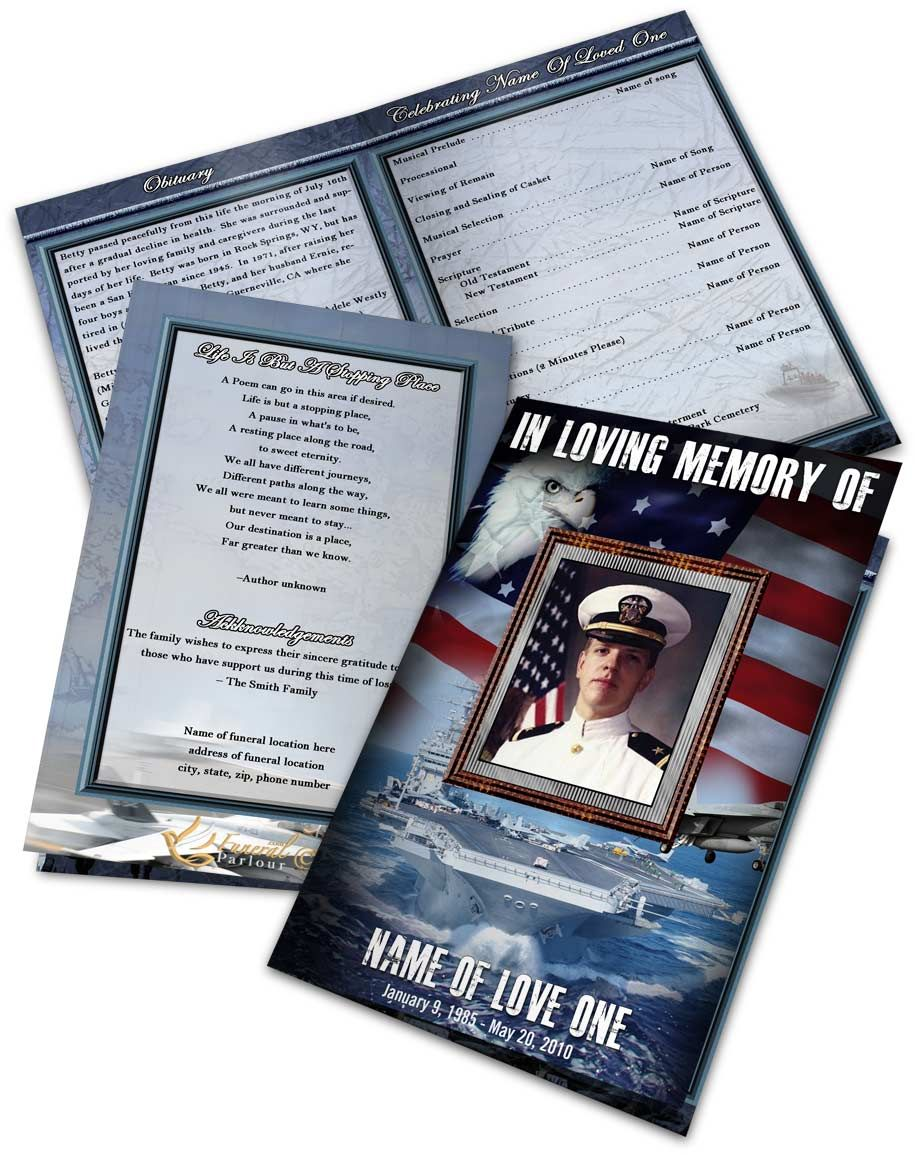 Funeral Program Templates  Program Template Funeral And Template