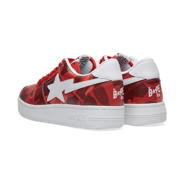 A Bathing Ape Colour Camo Bape Sta (Red) ❤ liked on Polyvore featuring shoes c026cab2f