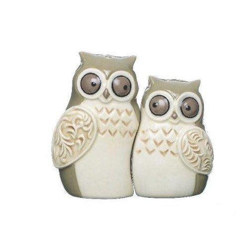Image detail for -Cuddling Owls Salt and Pepper Shaker Set Cute Ceramic (661371293530)