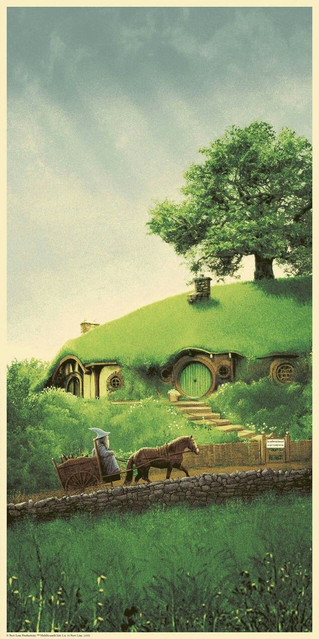 The lord of the rings. Bag End poster by Matt Ferguson.